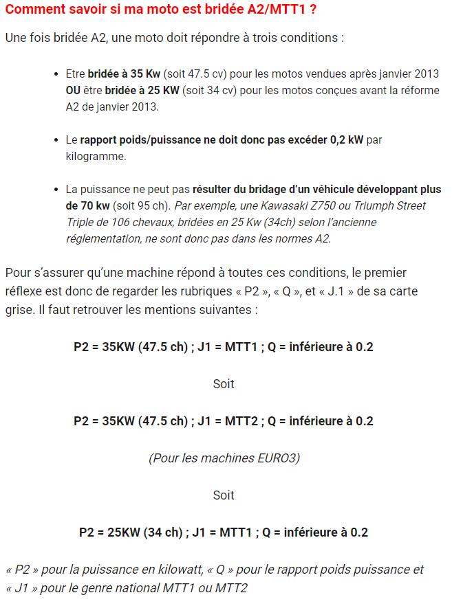Bridage Carte Grise Mtt2 Moto Débridé